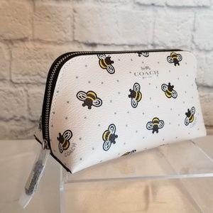 Coach Bee + Star Print Cosmetic Travel Tote Bag 17